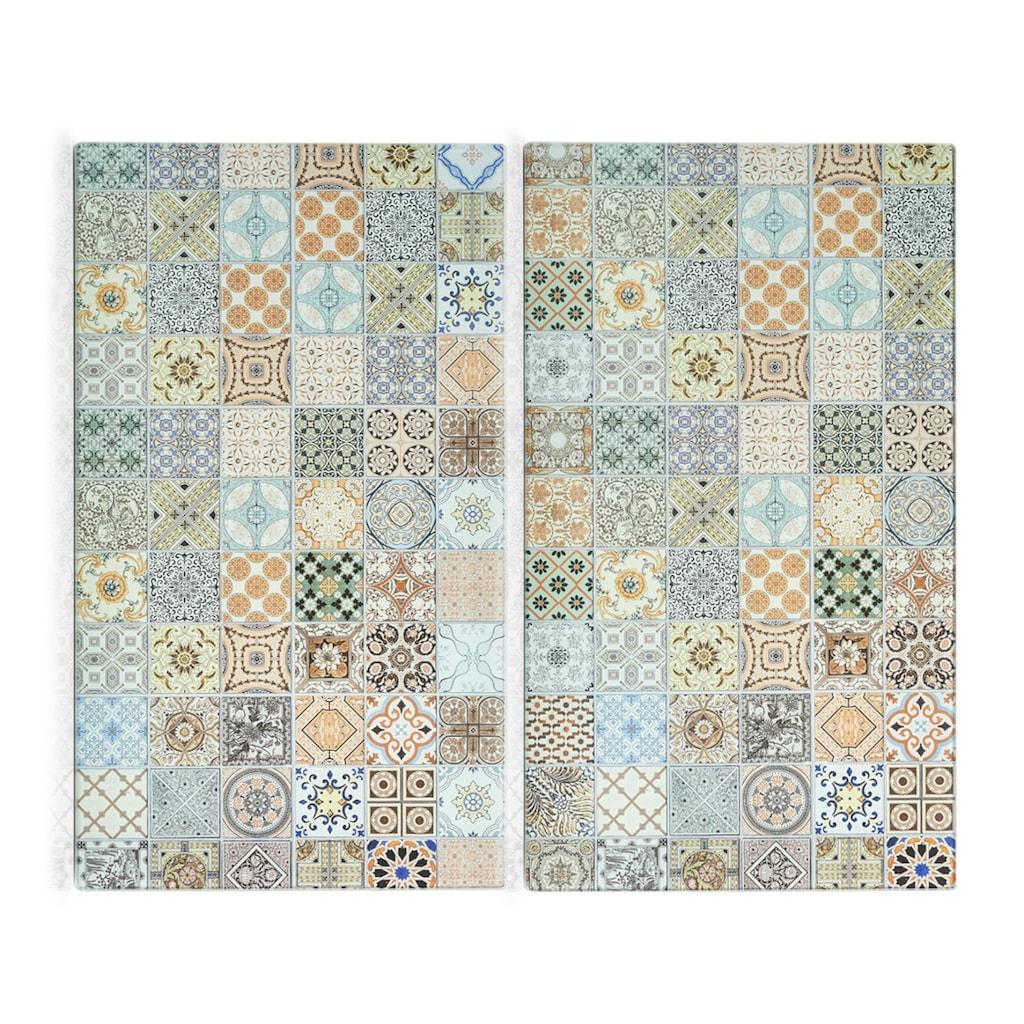 Zeller Present Schneide- und Abdeckplatte »Mosaik«, (Set, 2 tlg.)