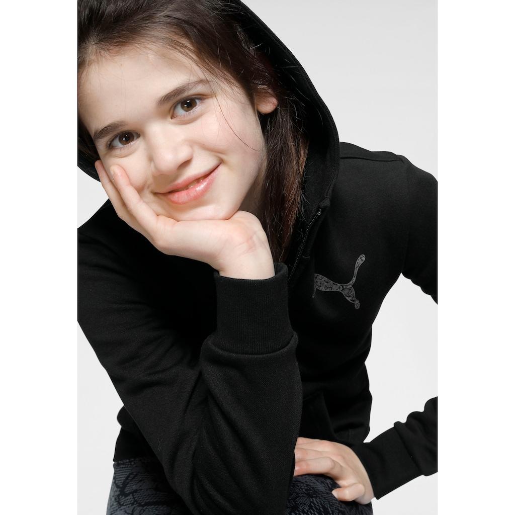 PUMA Kapuzensweatjacke »FULL-ZIP HOODIE FLEECE GIRLS«