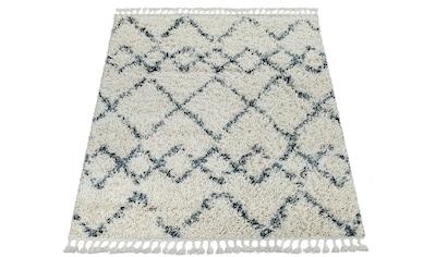 Paco Home Hochflor-Teppich »Nador 757«, rechteckig, 55 mm Höhe, Hochflor-Shaggy mit... kaufen