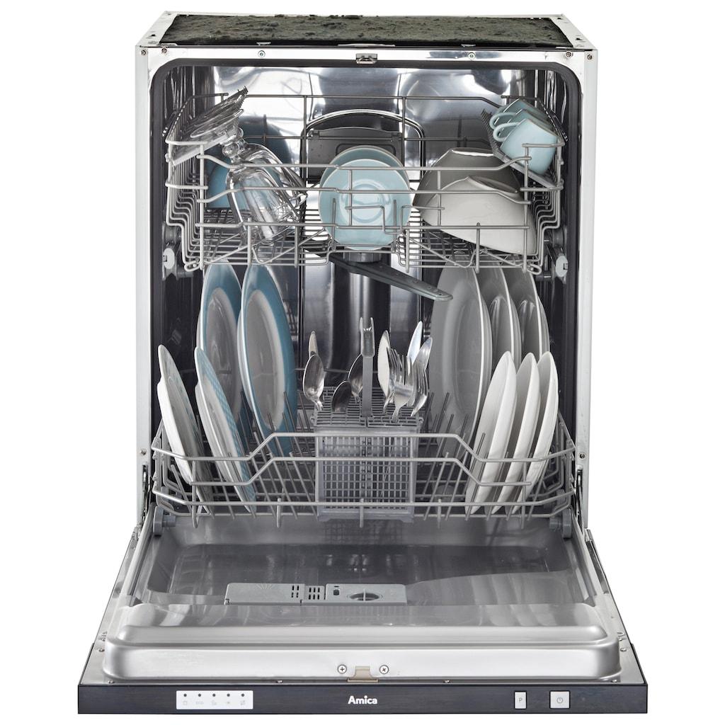 wiho Küchen Küchenzeile »Cali«, mit E-Geräten, Breite 360 cm mit Metallgriffen