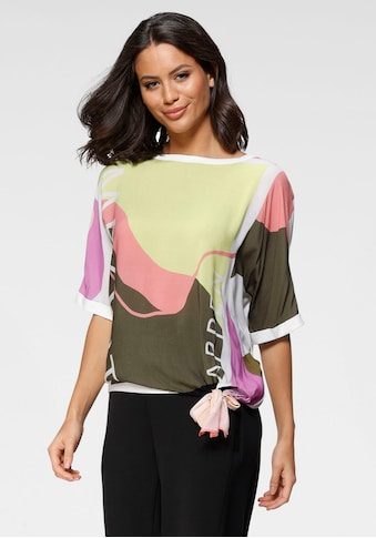 GERRY WEBER Shirtbluse, im Materialmix, mit Bindeschleife am Saum kaufen