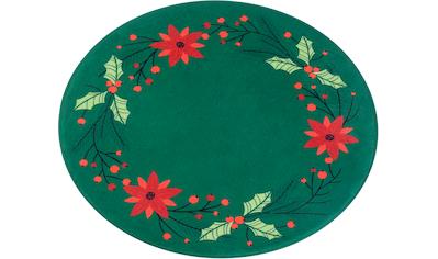 Teppich, »Weihnachtsstern«, my home, rund, Höhe 15 mm, gedruckt kaufen