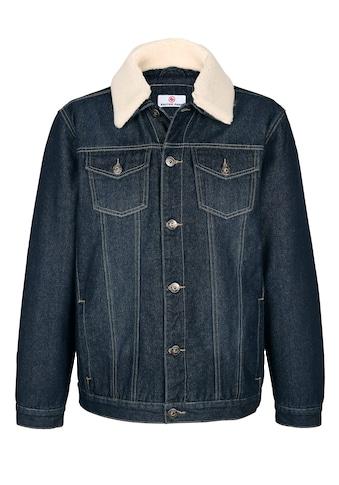 Boston Park Jeansjacke mit abnehmbarem Webpelzkragen kaufen