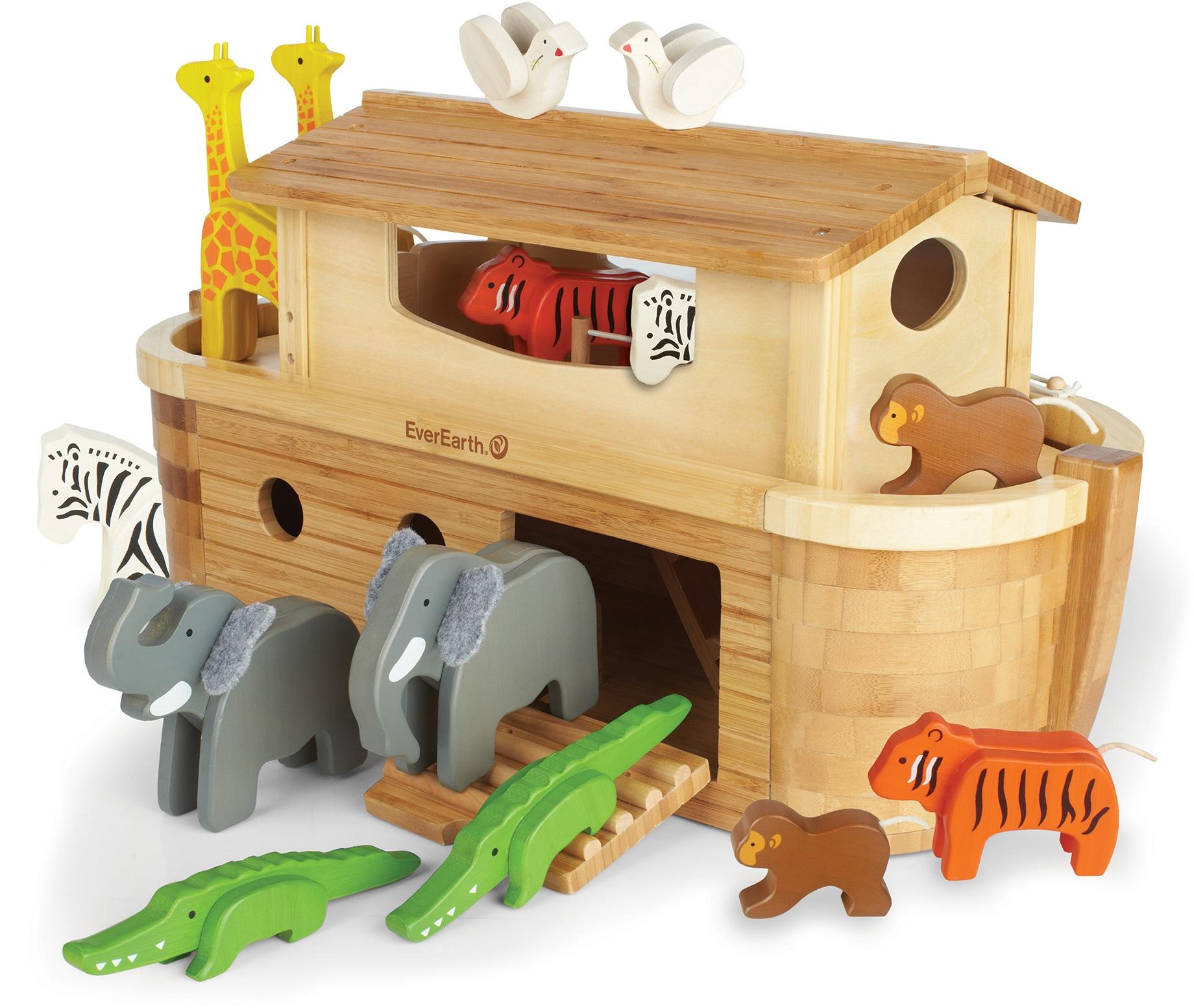 EverEarth Holzspielzeug Arche Noah in Groß mit 14 Tieren Preisvergleich