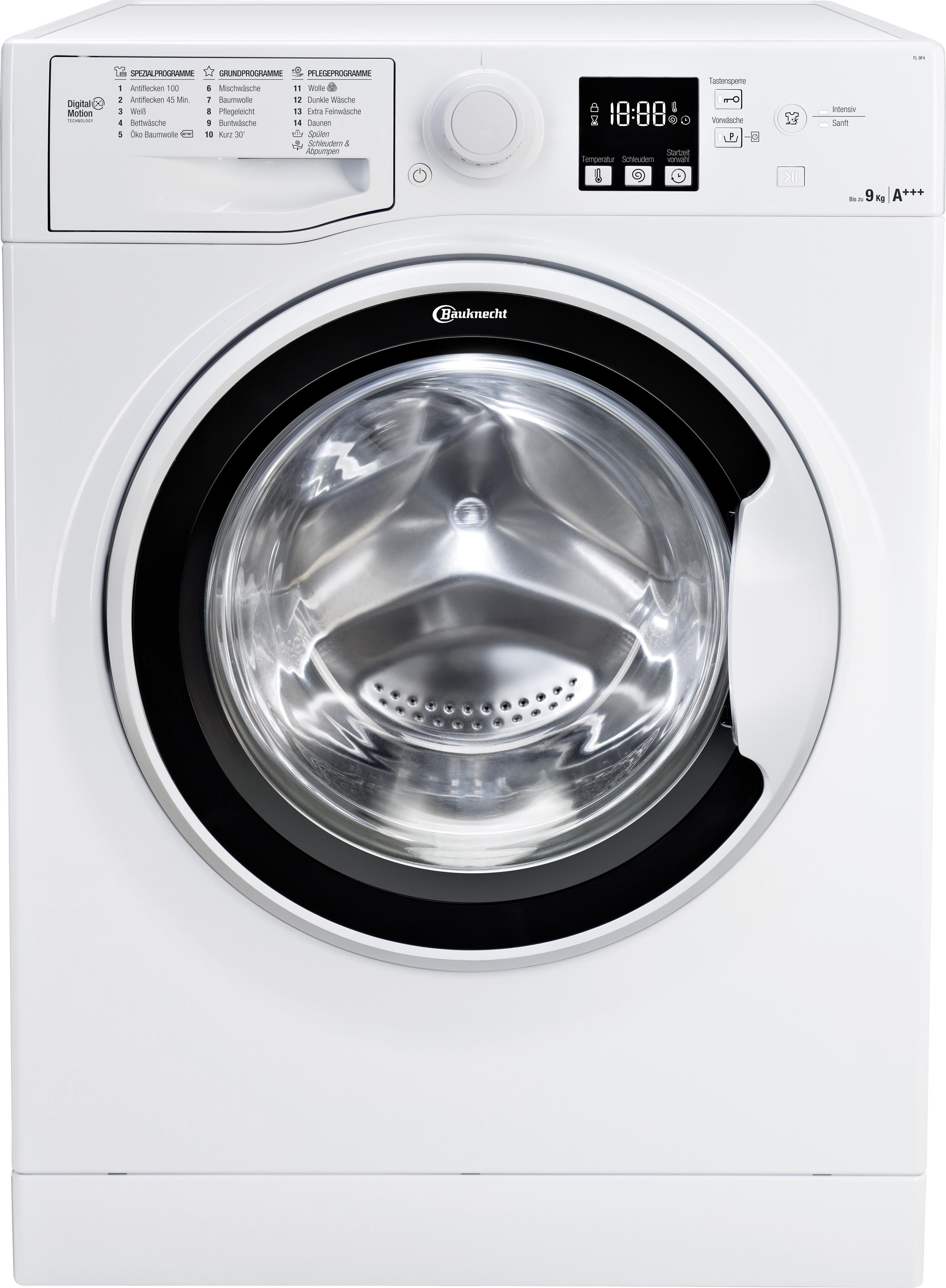 BAUKNECHT Waschmaschine   Bad > Waschmaschinen und Trockner > Frontlader   Weiß   Bauknecht