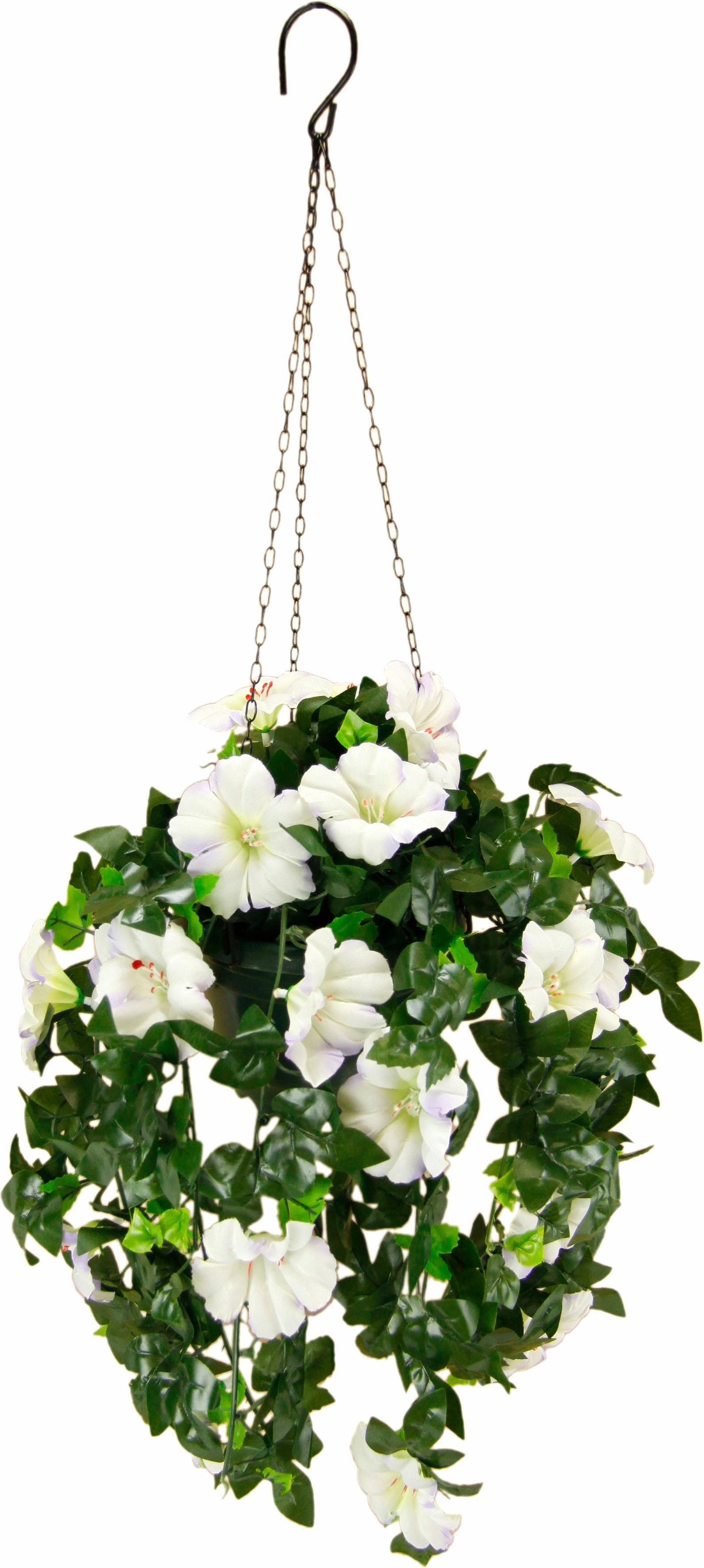 Kunstpflanze Petunien Hängeampel 66 cm Technik & Freizeit/Heimwerken & Garten/Garten & Balkon/Pflanzen/Kunstpflanzen/Kunst-Kränze