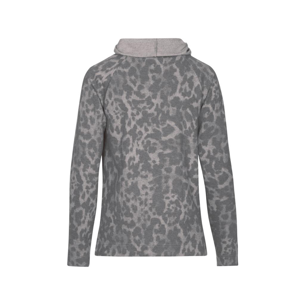Trigema Sweatshirt mit tollem Animal-Muster