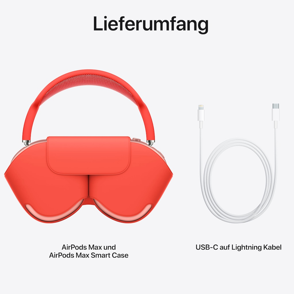 Apple Over-Ear-Kopfhörer »AirPods Max«, Bluetooth, Active Noise Cancelling (ANC)-Transparenzmodus