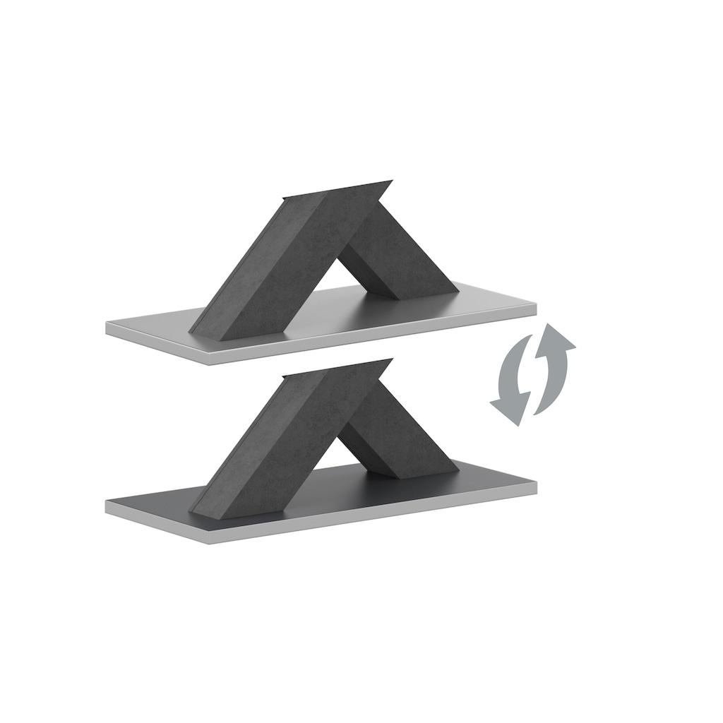 Esstisch »Komfort C«, mit X-Gestell in graphit und mit Auszugsfunktion, Breite 160-260 cm