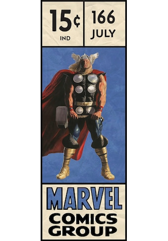 Komar Fototapete »Thor Retro Comic Box«, bedruckt-Comic-Retro-mehrfarbig, BxH: 100x280 cm kaufen