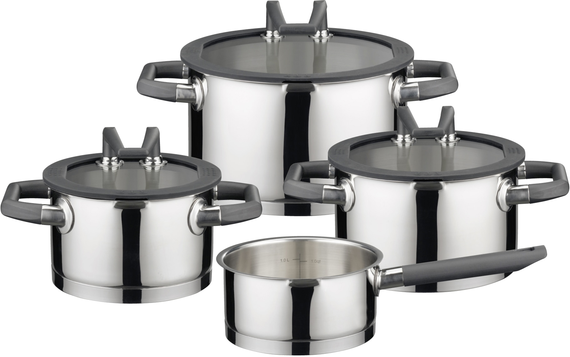 Elo Premium Topf-Set Black Pearl (Set 7-tlg) Wohnen/Haushalt/Haushaltswaren/Töpfe/Topfsets