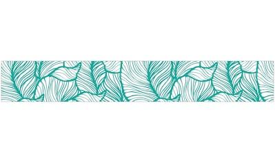 MySpotti Fensterfolie »Look Leaves turquoise«, halbtransparent, glattstatisch haftend,... kaufen
