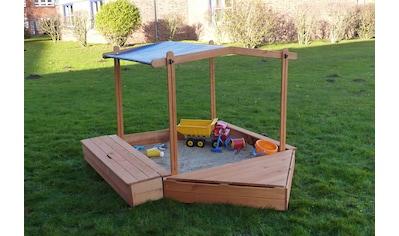 PROMADINO Sandkasten »MULTI«, BxL: 260x172 cm, mit Bugbox, Sitzbox + Sonnendach kaufen