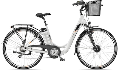 Telefunken E-Bike »Multitalent RC820«, 7 Gang, Shimano, Acera, Frontmotor 250 W, mit Fahrradkorb kaufen
