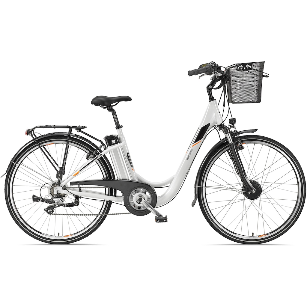 Telefunken E-Bike »Multitalent RC820«, 7 Gang, Shimano, Acera, Frontmotor 250 W, mit Fahrradkorb