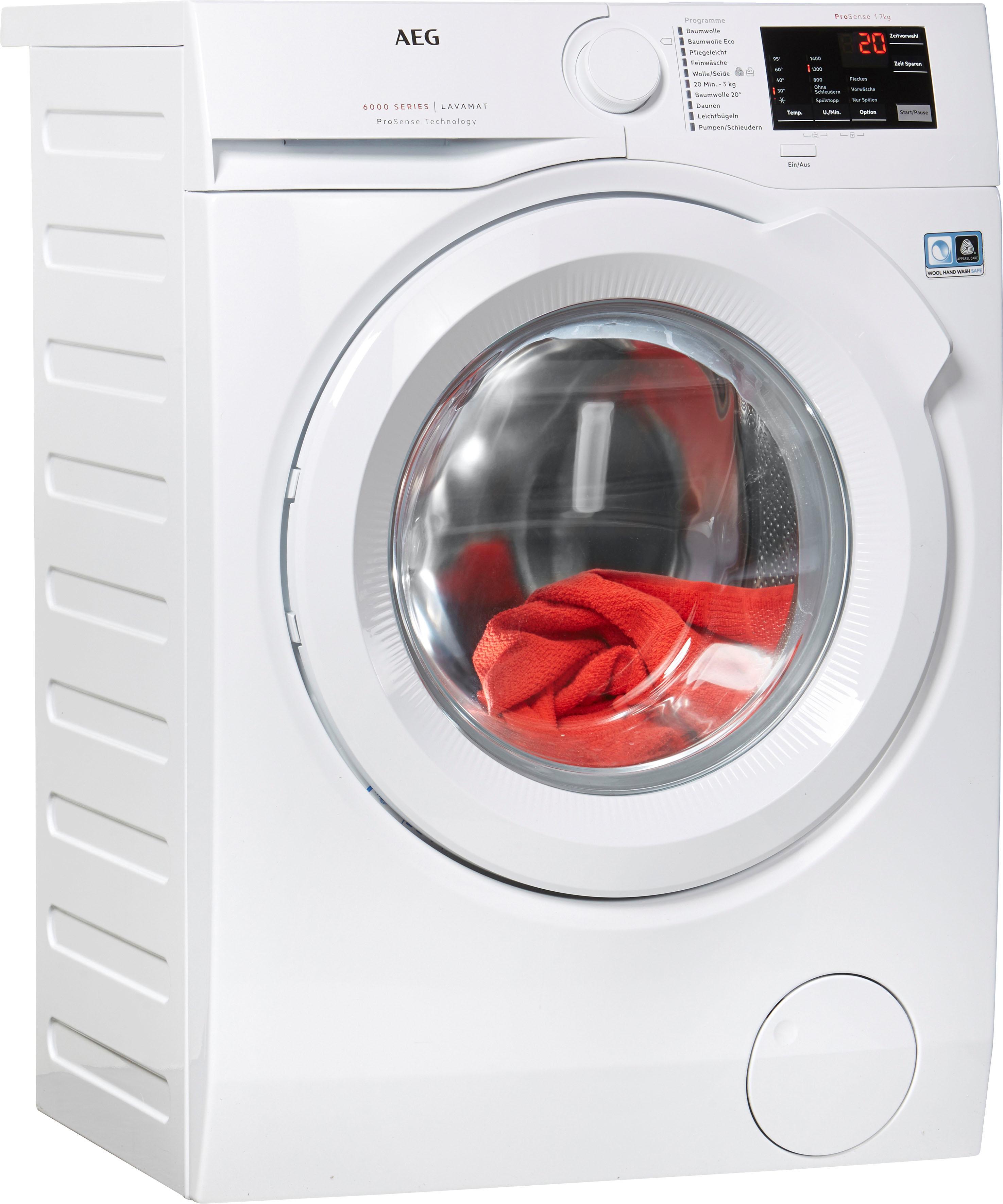 aeg waschmaschine lavamat l6fb54470 auf rechnung baur. Black Bedroom Furniture Sets. Home Design Ideas