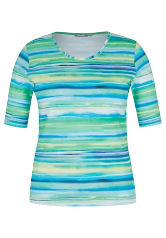 Rabe T - Shirt mit Allover - Streifen im Aquarell - Style kaufen