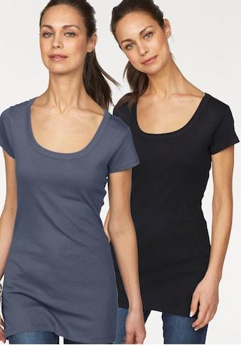 Flashlights T-Shirt, in Longform kaufen