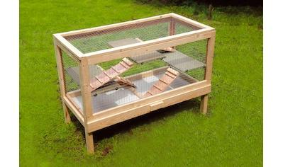 SILVIO design Kleintierkäfig »Nagervoliere«, BxLxH: 50x100x70 cm kaufen