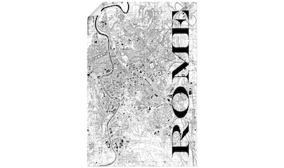 Artland Wandbild »Rom Karte Straßen Karte« kaufen