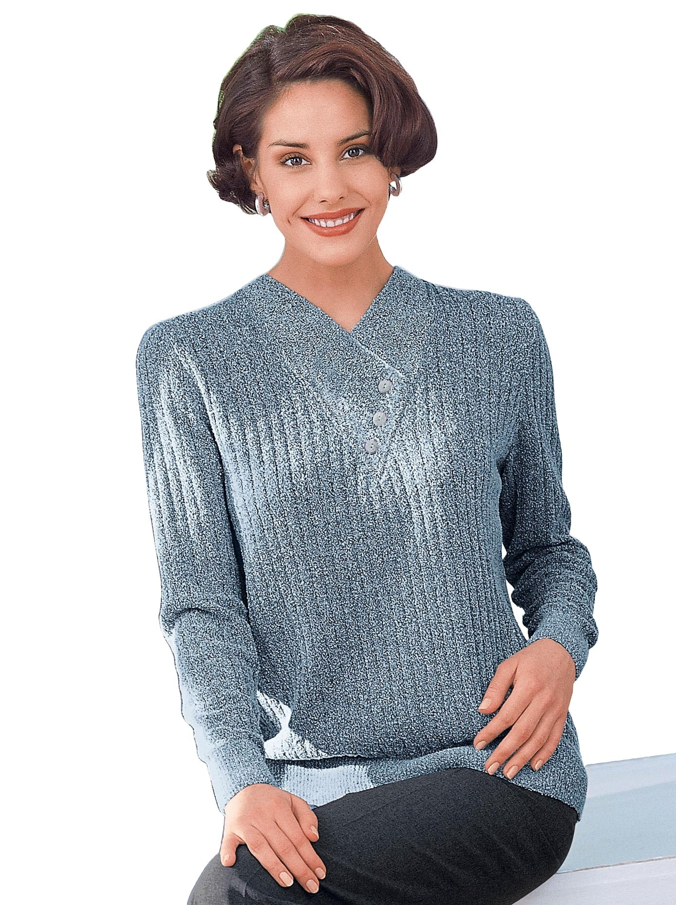 Classic Pullover in topmodischer Rippenstruktur
