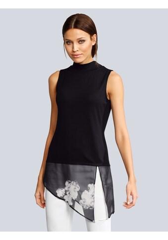 Alba Moda Top mit bedruckter Chiffonlage kaufen