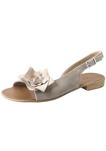 Sandalette mit großer Bllütenapplikation kaufen