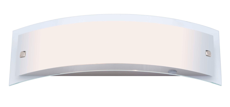 Brilliant Leuchten Elysee Wandleuchte 2flg edelstahl/weiß