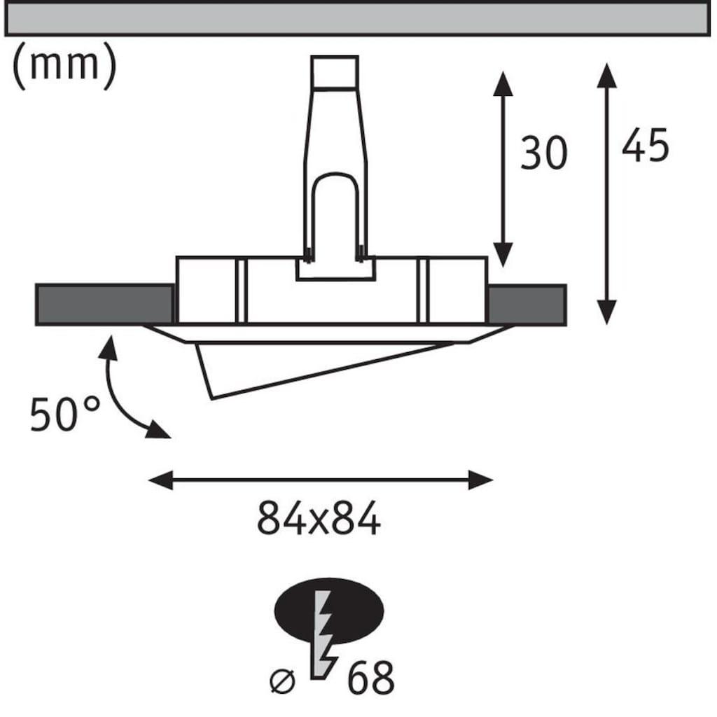 Paulmann LED Einbaustrahler »Nova eckig 3x6,5W Weiß matt schwenkbar«, Warmweiß