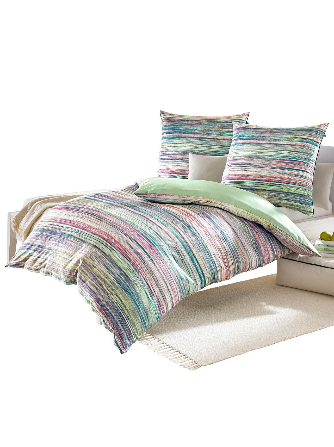 Irisette Bettwäsche grün Mako-Satin-Bettwäsche nach Material Bettwäsche, Bettlaken und Betttücher