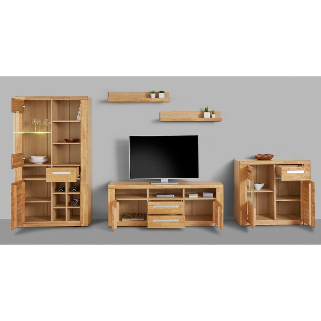 Woltra Wohnwand »Kolding«, (Set, 5 St.), teilmassives Holz