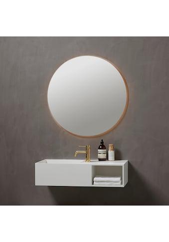 Badspiegel »Herning Rund«, Ø 80 cm, mit LED Beleuchtung kaufen