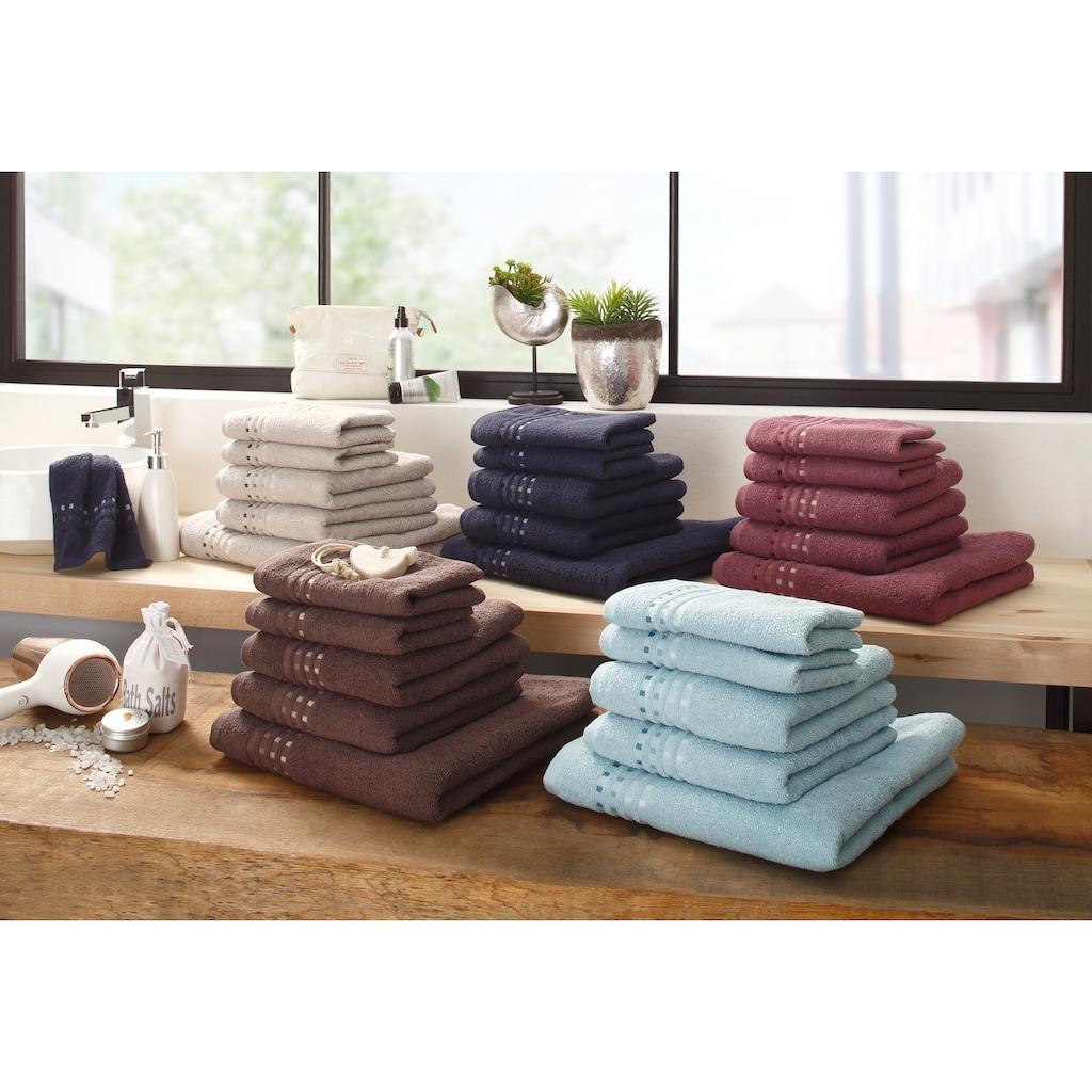 Home affaire Handtuch Set »Kelly«, mit Farbverlauf in Bordüre