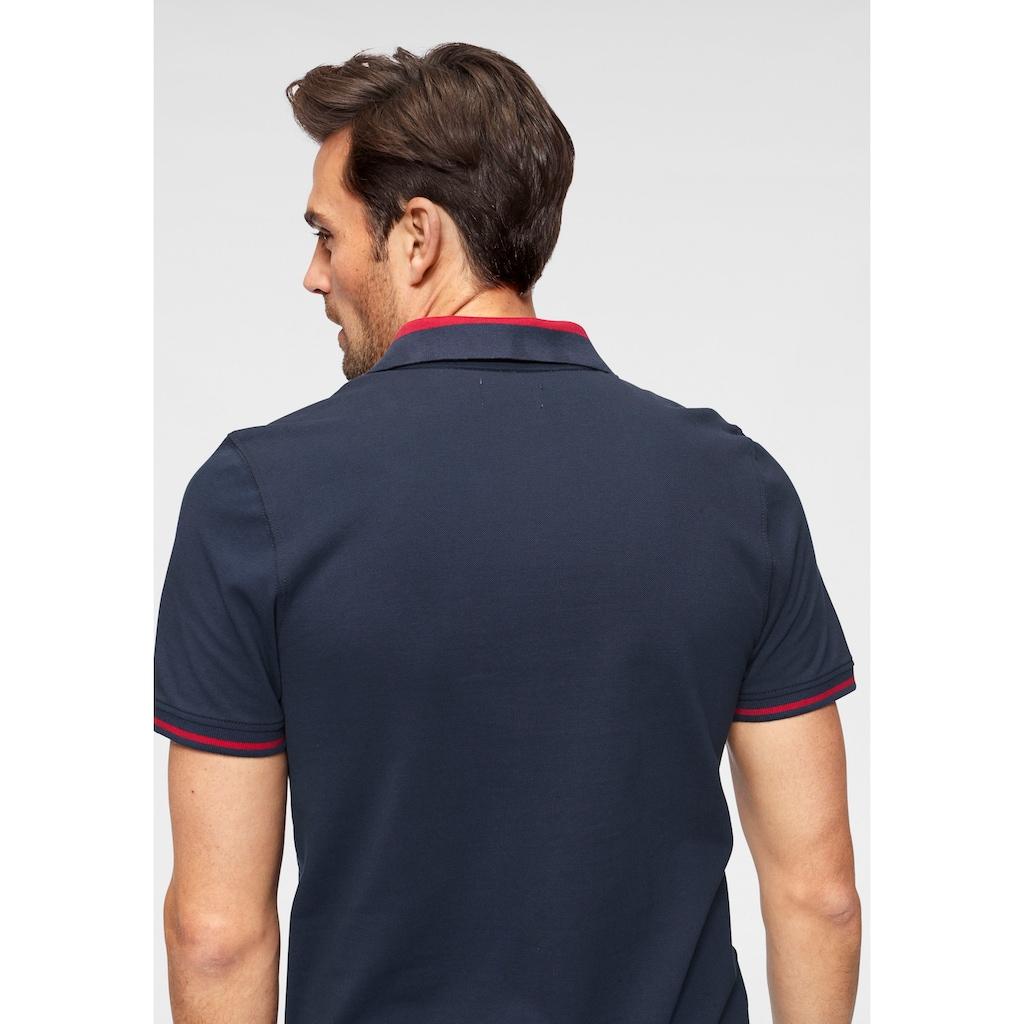 TOM TAILOR Polo Team Poloshirt, mit kontrastfarbenen Details