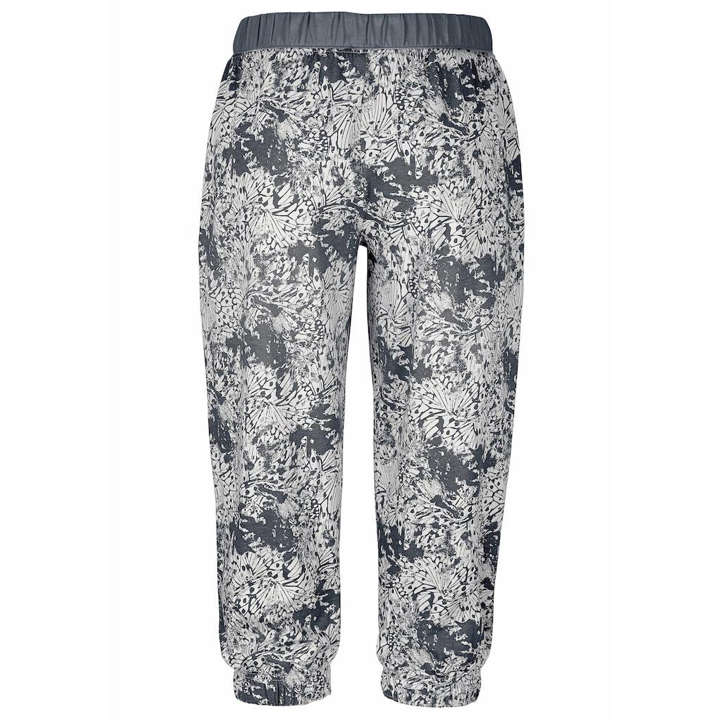 Buffalo Capri-Pyjama, mit gemusterter Hose