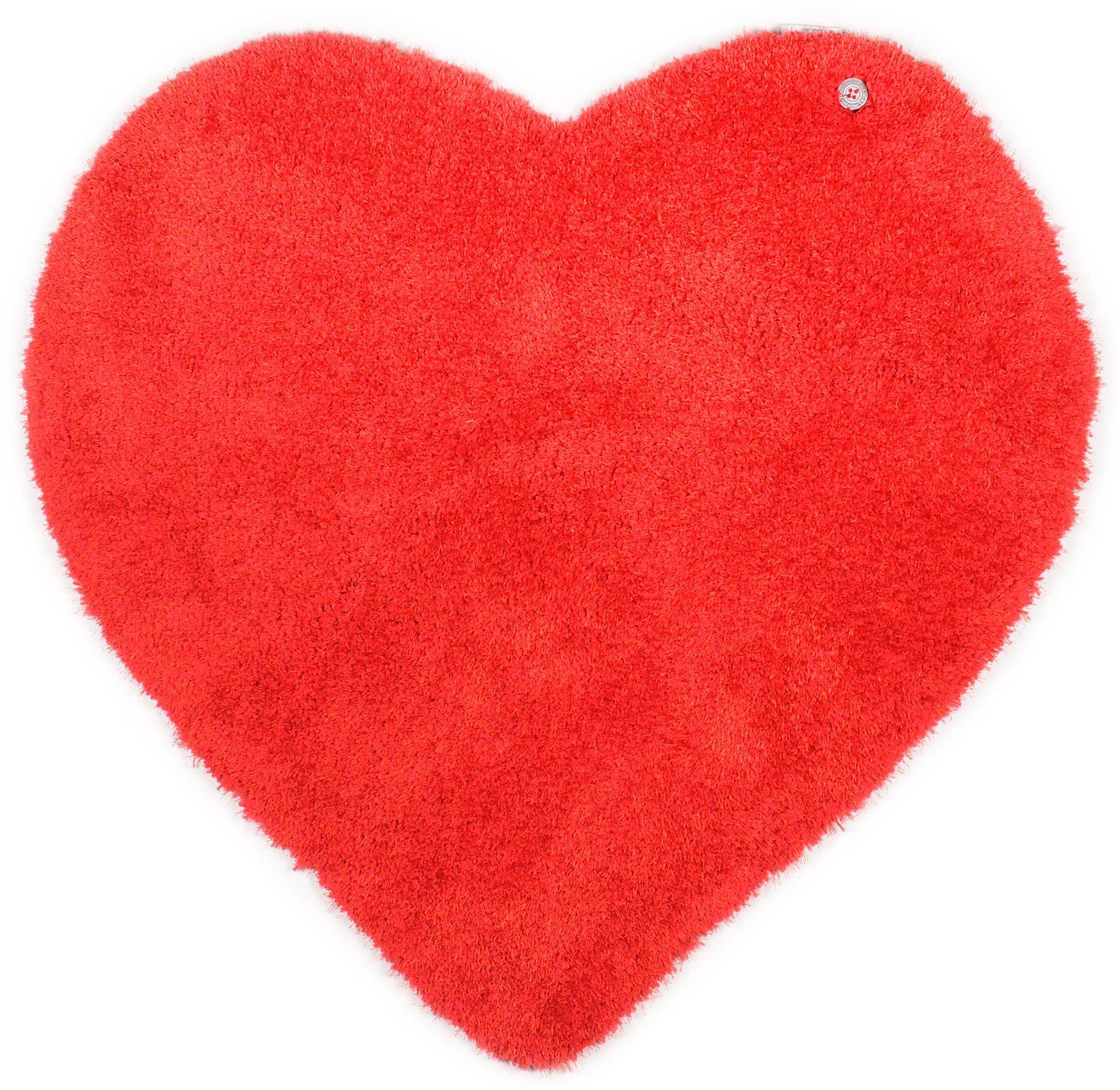 Kinderteppich Soft Herz TOM TAILOR herzförmig Höhe 35 mm handgetuftet