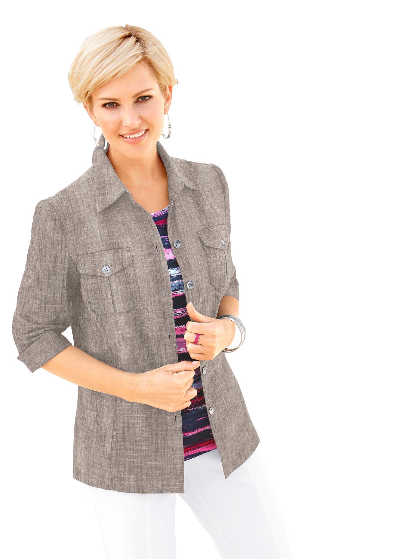 Casual Looks Blusenblazer mit Seitenschlitze für viel Bewegungsfreiheit | Bekleidung > Blazer > Blusenblazer | Casual Looks