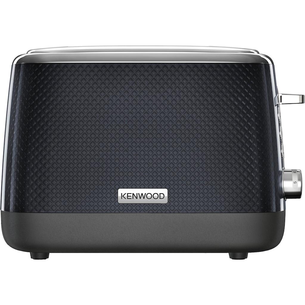 KENWOOD Toaster »Mesmerine TCM811.BK«, 2 kurze Schlitze, für 2 Scheiben, 1000 W