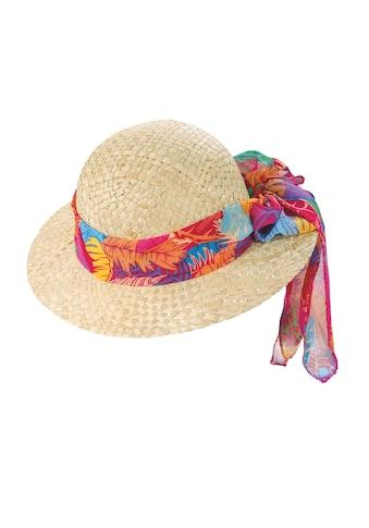 Chaplino Strohhut, mit gemustertem Hutband kaufen