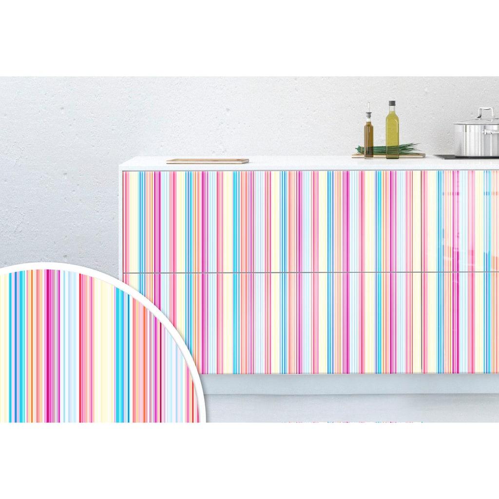 Wall-Art Möbelfolie »Streifen bunt«, 100/100 cm