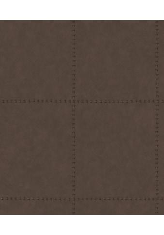 Superfresco Easy Vliestapete »Leder«, Antiklederoptik, Braun - 10m x 52 cm kaufen
