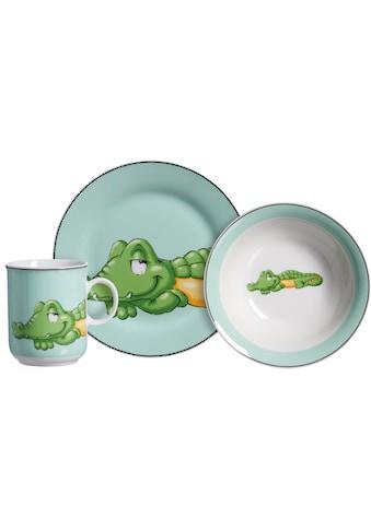 Ritzenhoff & Breker Kindergeschirr-Set »Happy Zoo, Koko«, (Set, 3 tlg.), mit Krokodil-Dekor kaufen