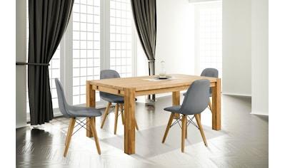 Home affaire Essgruppe »Tim«, (Set, 5 tlg.), bestehend aus 4 Stühlen und einem Esstisch, Esstischgröße 160 cm kaufen