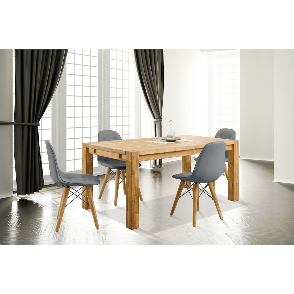Home affaire Essgruppe »Tim«, (Set, 5 tlg.), bestehend aus 4 Stühlen und einem Esstisch, Esstischgröße 160 cm