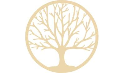 Wanddekoobjekt »Holzdeko Pappel Furnier  -  Baum des Lebens« kaufen