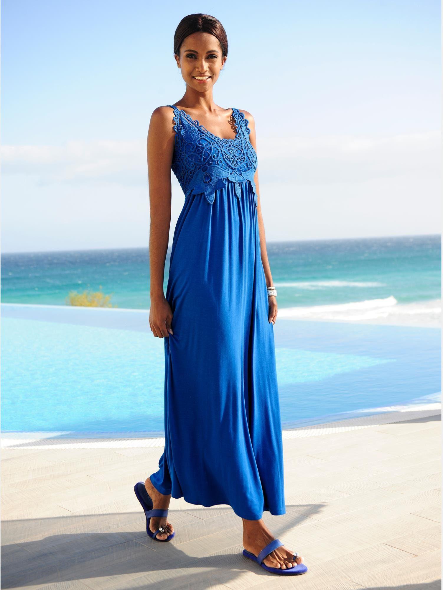 alba moda kleid mit spitze für damen  baur