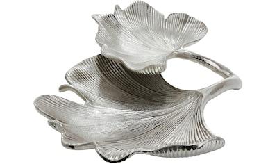 GILDE Dekoschale »Schale Ginkgo Blatt, silberfarben«, Doppelschale, Breite 34 cm, aus... kaufen