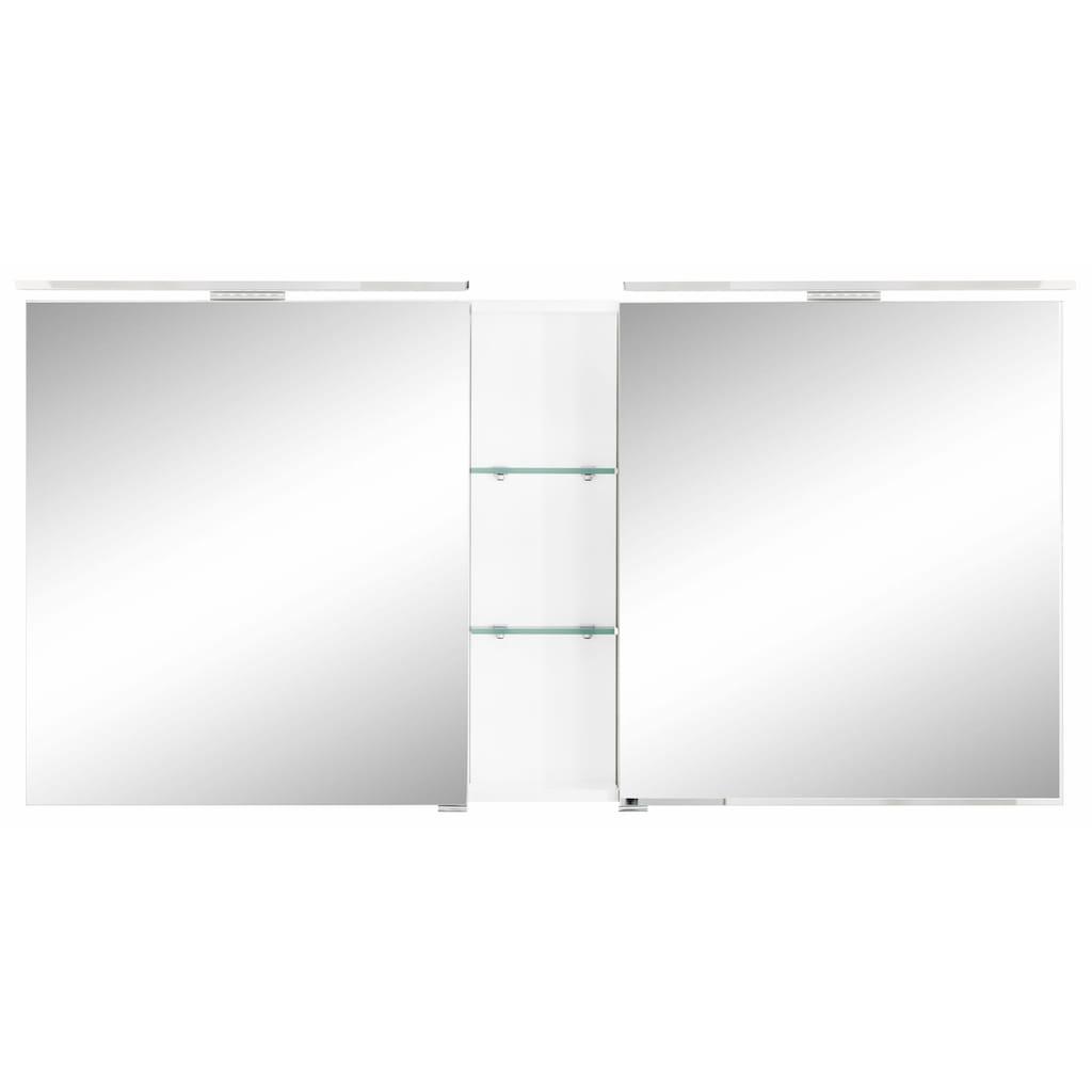 MARLIN Spiegelschrank »Sola 3130«, mit LED Beleuchtung, Breite 140 cm, vormontiert