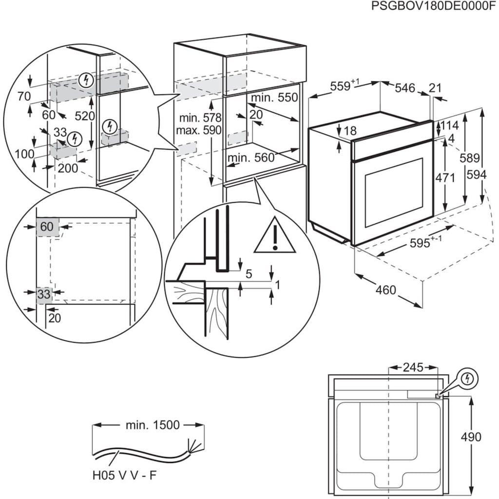 AEG Induktions Herd-Set »EPS635220B«, EPS635220B 940 321 385, mit Backauszug, Pyrolyse-Selbstreinigung