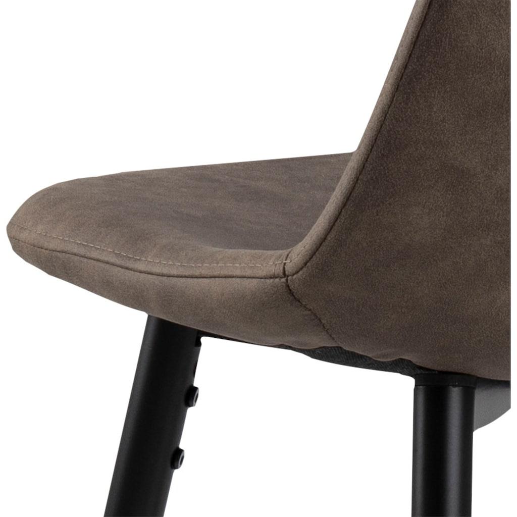 andas Bistrostuhl »Wilma«, 2er Set, mit zwei unterschiedlichen pflegeleichten Bezugsqualitäten erhältlich, Sitzhöhe 65 cm